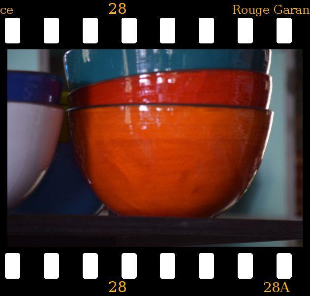 saladier moucheté vert rouge bleu anis orange jaune