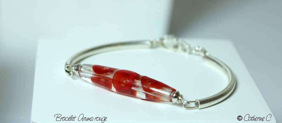 Bracelet Arums rouge