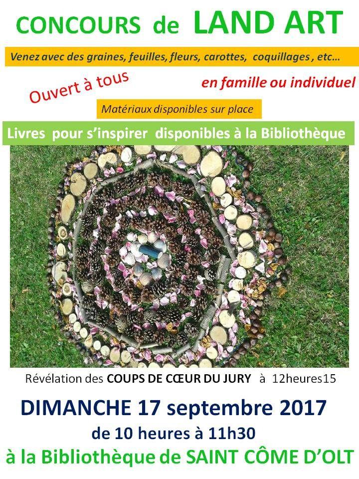 Venez, en famille, créer votre land art à la Bibliothèque de Saint Côme d'olt