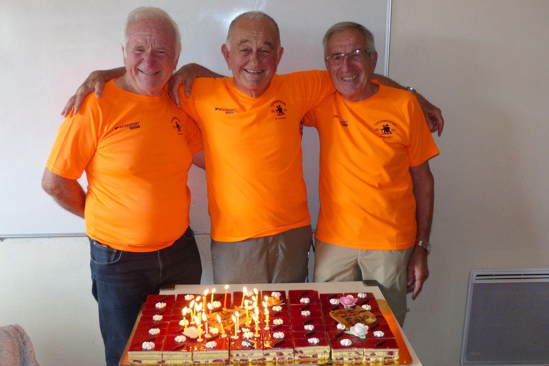 ... et les trois présidents successifs pour les souffler : Claude, Jean-Claude et André.