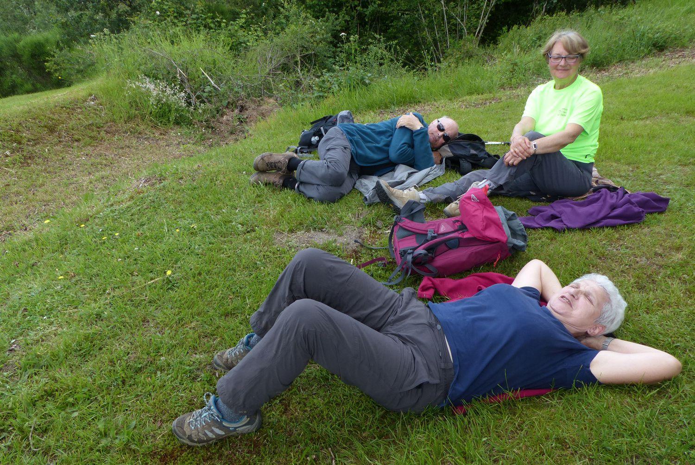 Après la dure montée, le pique-nique et sa sieste ont permis de recharger les batteries !