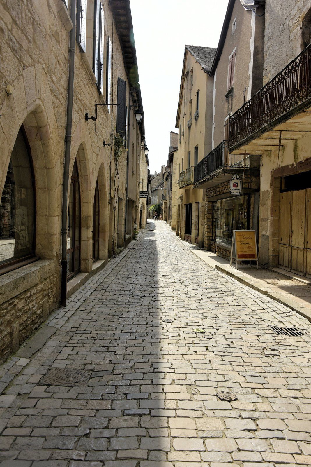 Villeneuve d'Aveyron le 24/07/2018 la ville