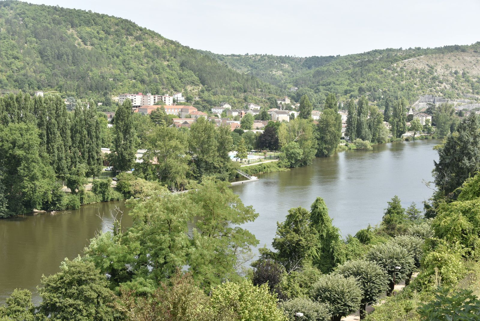 Aujourd'hui 27 Juillet promenade à Cahors.