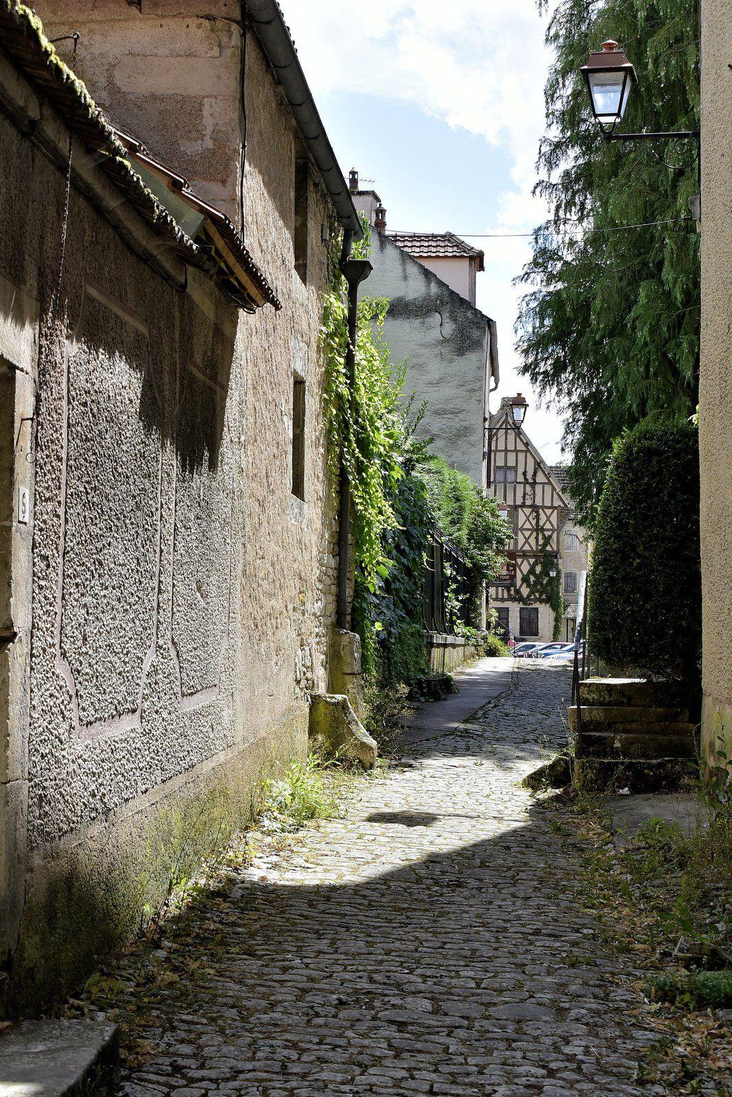 Déambulation dans les rues du village de Noyers.