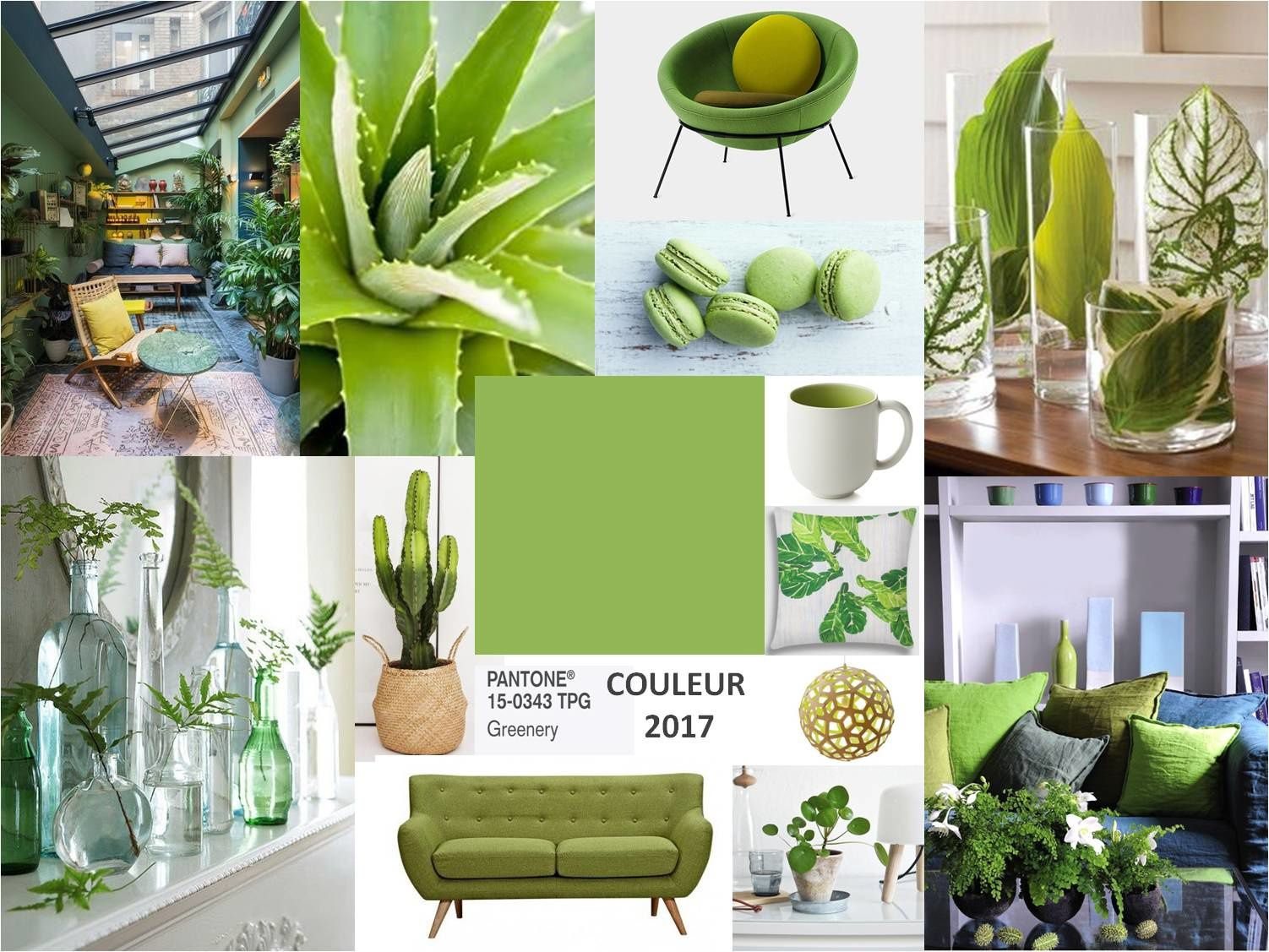 couleur pantone 2017 greenery. Black Bedroom Furniture Sets. Home Design Ideas