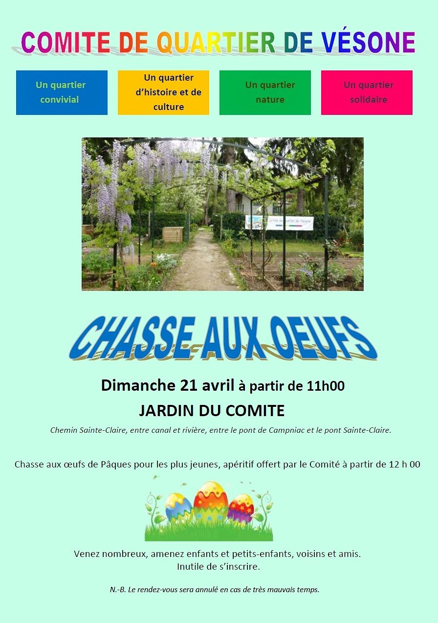 CHASSE AUX OEUFS!