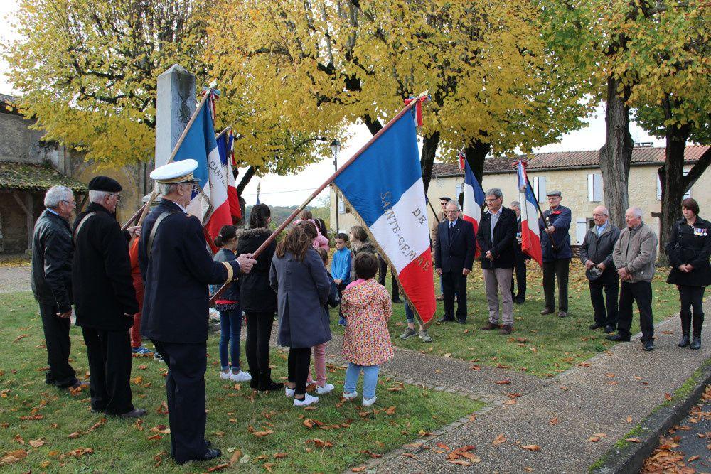 Commémoration du centenaire de l'Armistice de la Grande Guerre à Saint-Vivien-de-Monségur le 11 novembre 2018