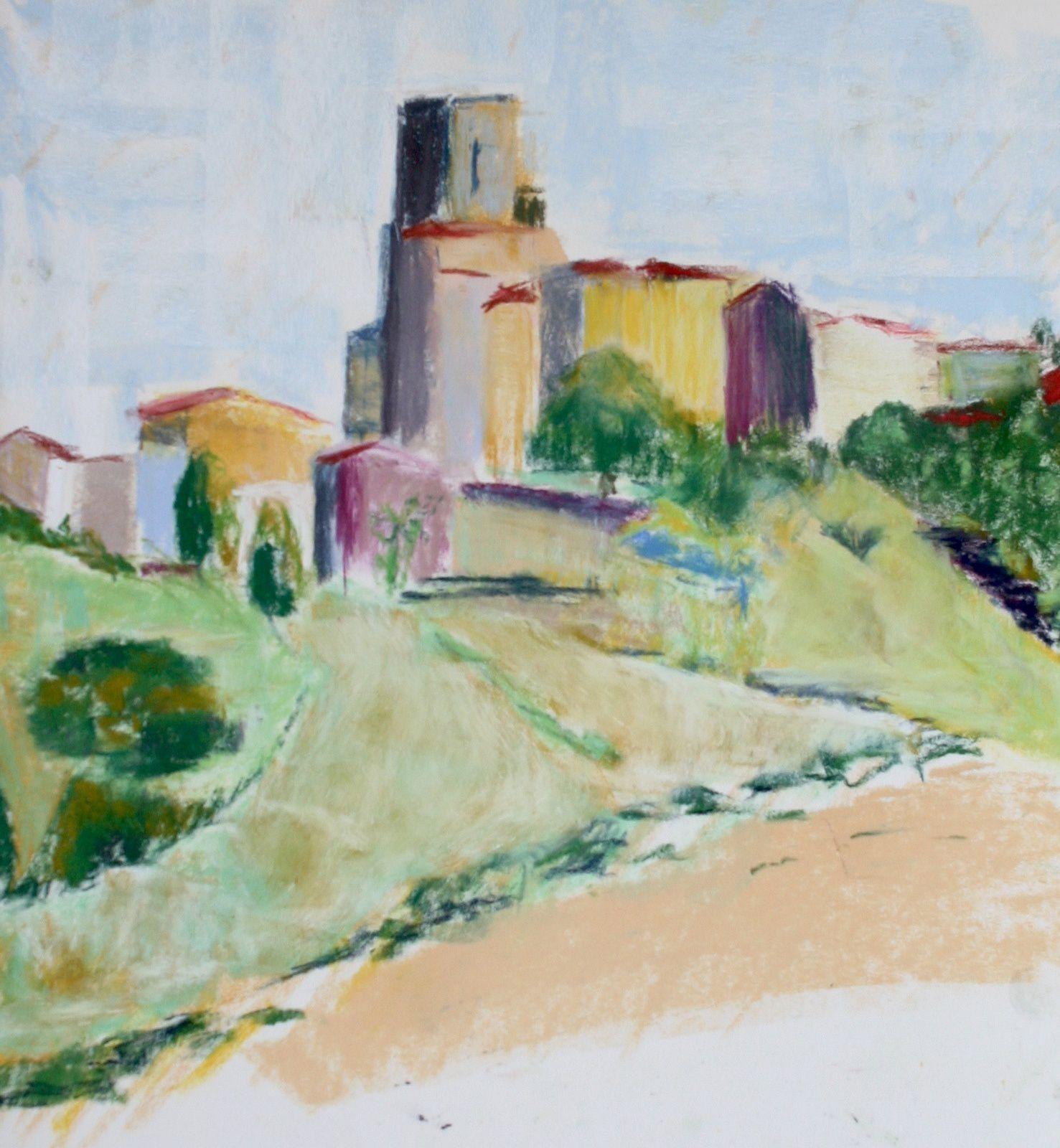 Recherche autour du paysage, pastel gras et sec, huile, acrylique, aquarelle, encre
