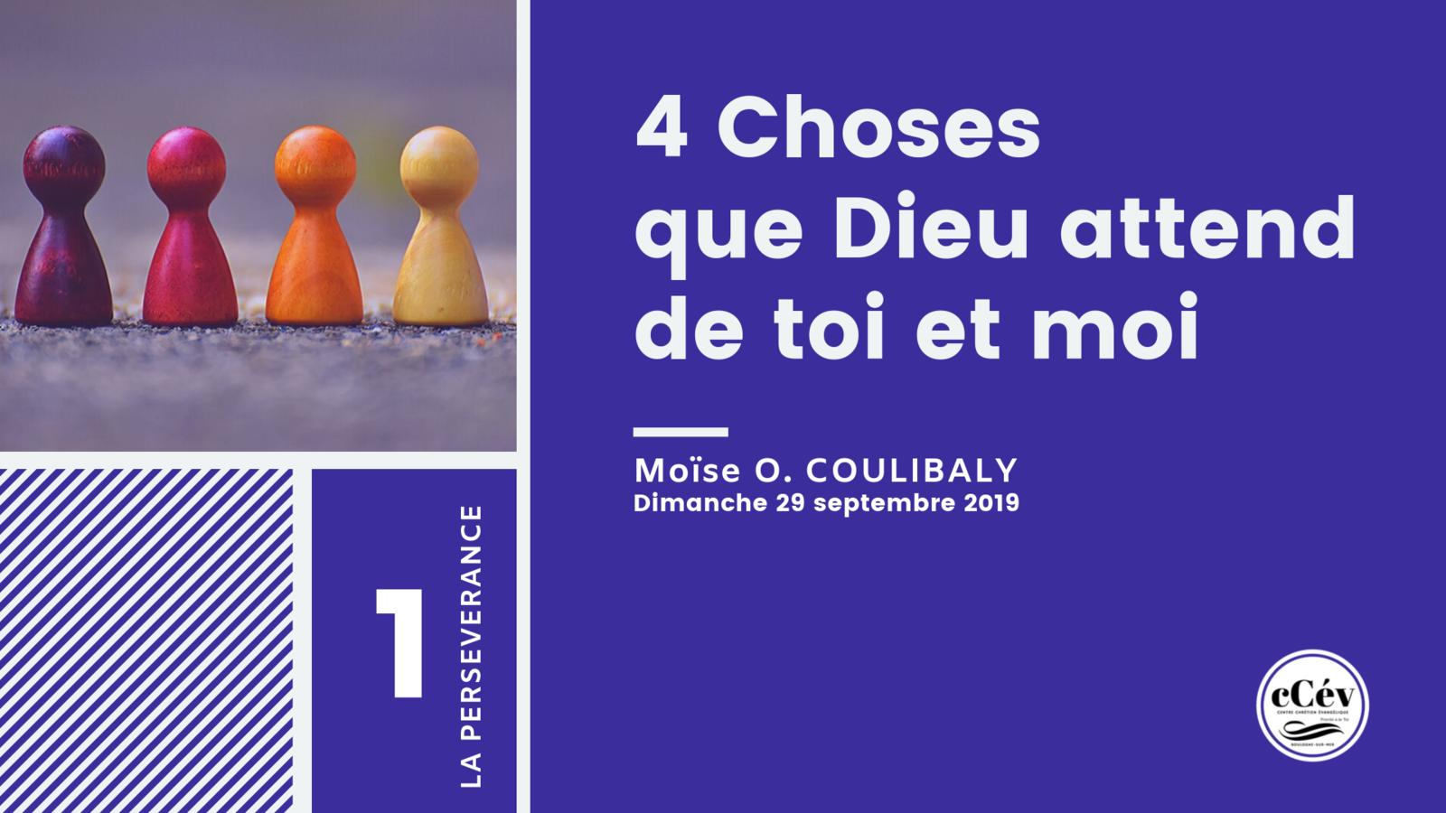 Prédication du dimanche 29 septembre 2019