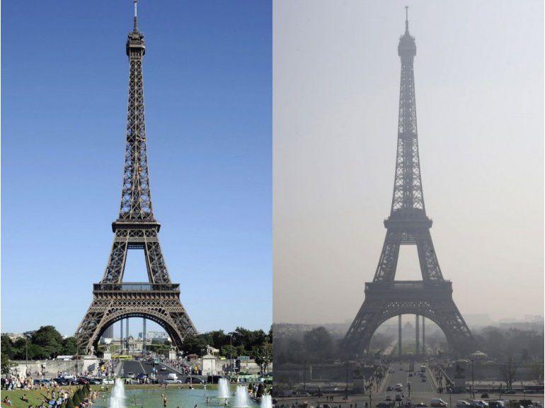 L'automobile + Les systèmes de chauffage + La production industrielle = CHALEUR et POLLUTION URBAINE