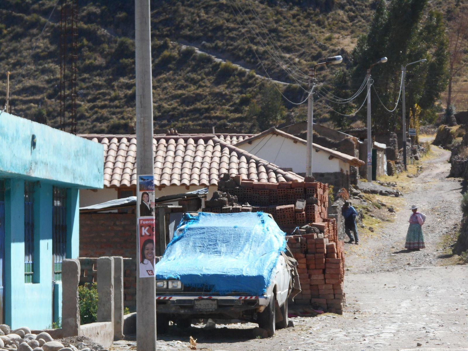 Village de Coporaque que nous avions visité la veille...