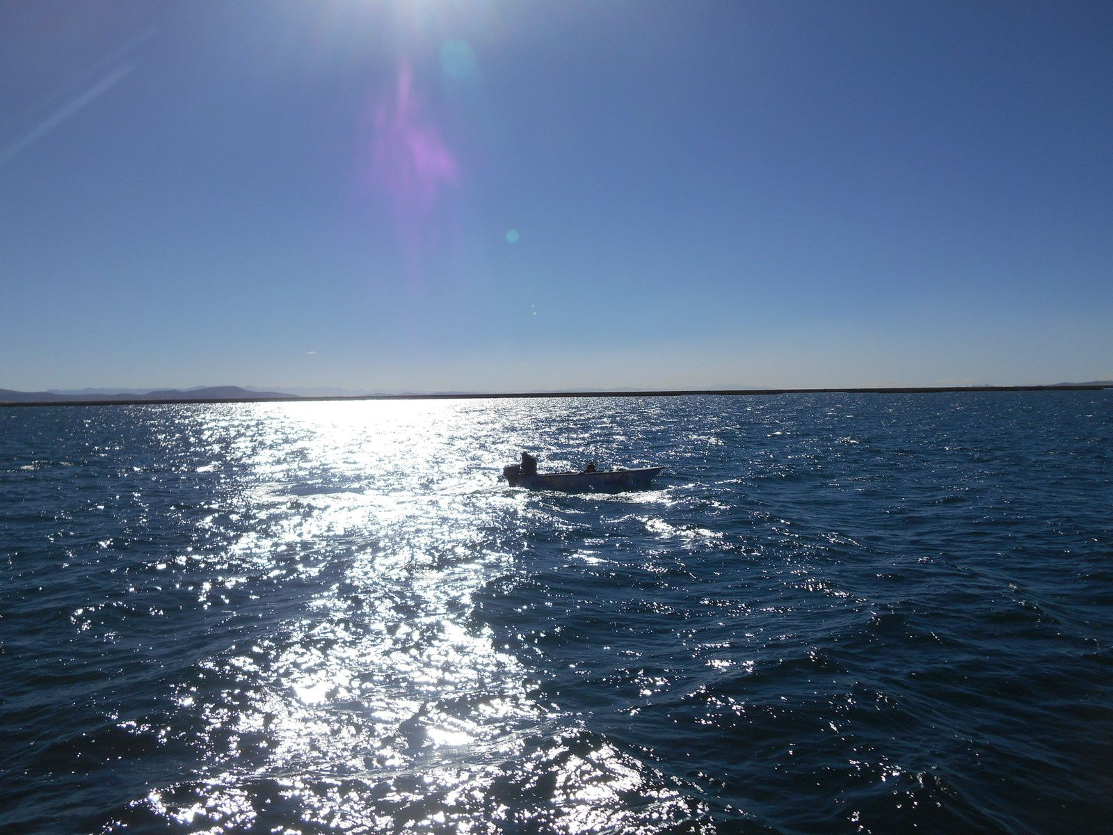Navigation sur le lac...