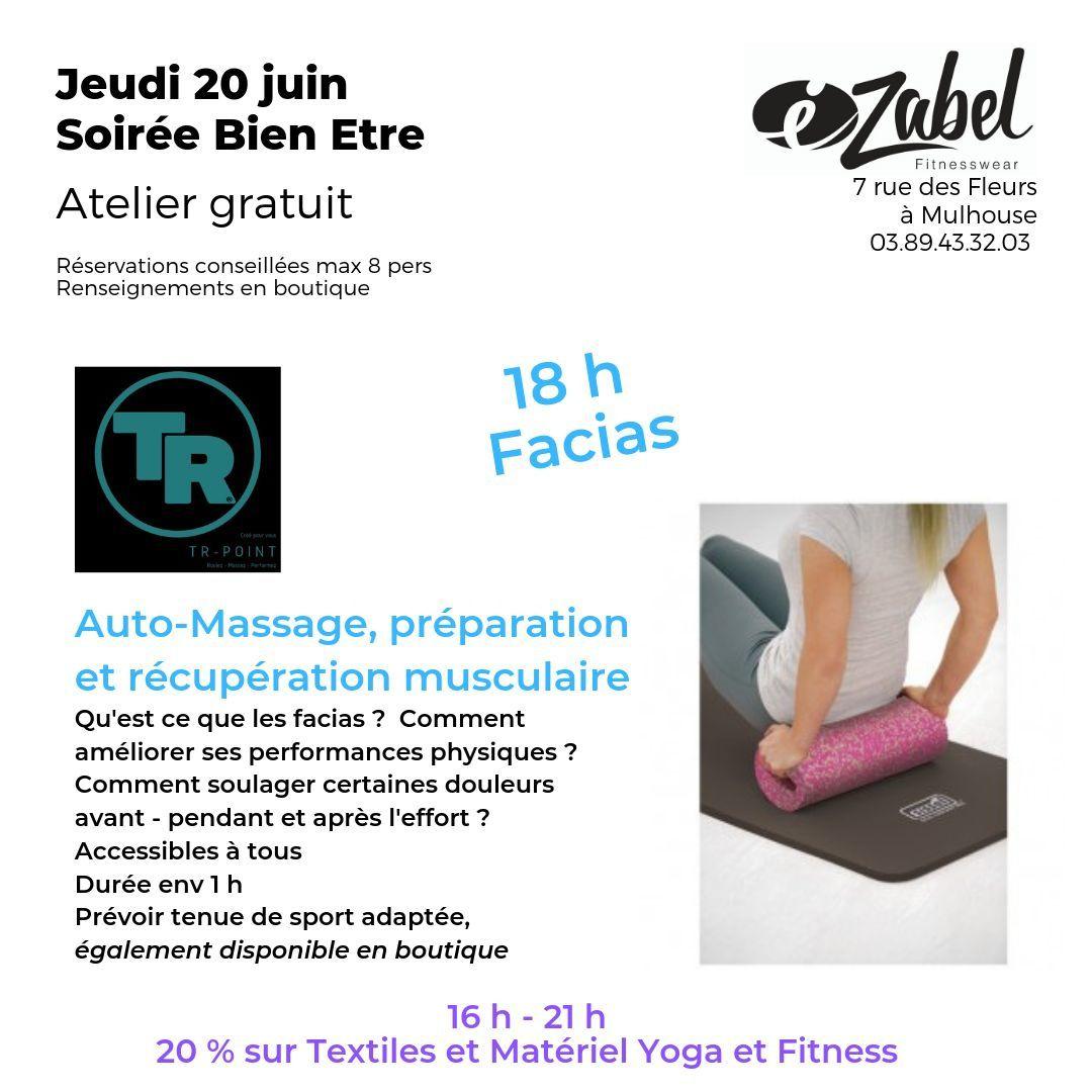 comment utiliser les rouleaux de massage, atelier découverte magasin fitness Mulhouse