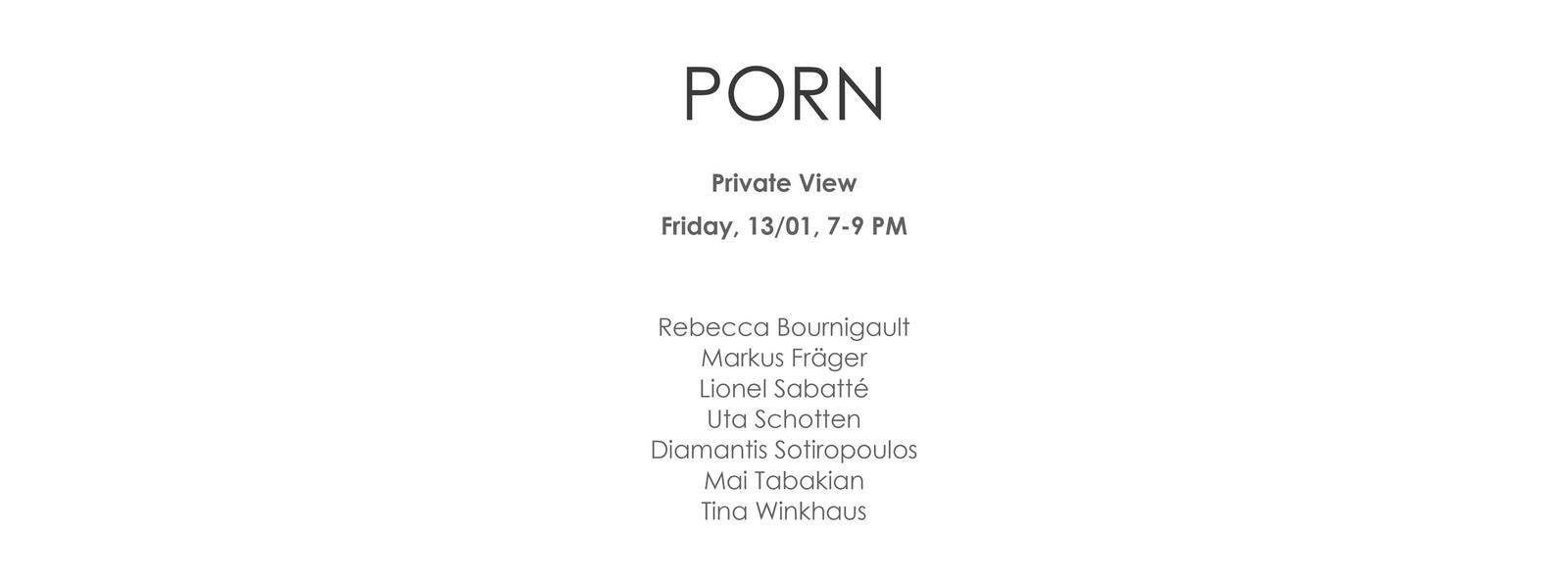 PORN - ChangesFiveX Part One - Vues d'expo - Galerie Biesenbach, Cologne (Allemagne)