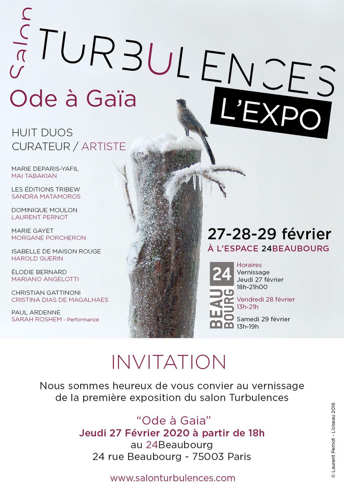 Salon TURBULENCES - L'EXPO - du 27 au 29 février 2020 - Espace 24Beaubourg - Paris