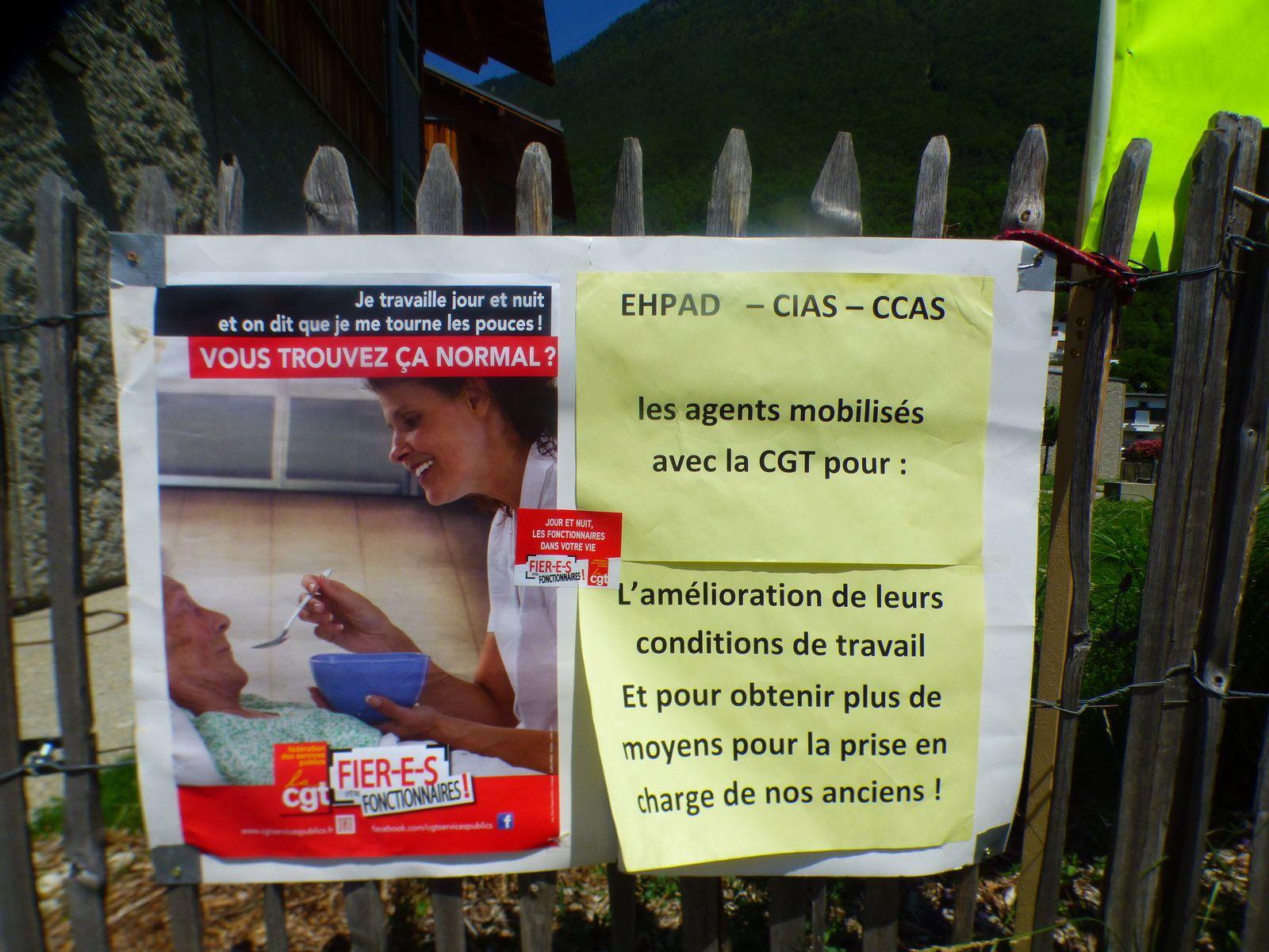 journée d'Action sur les EHPAD et les Services d'Aide et de Soins à domicile Lundi 1 er juillet