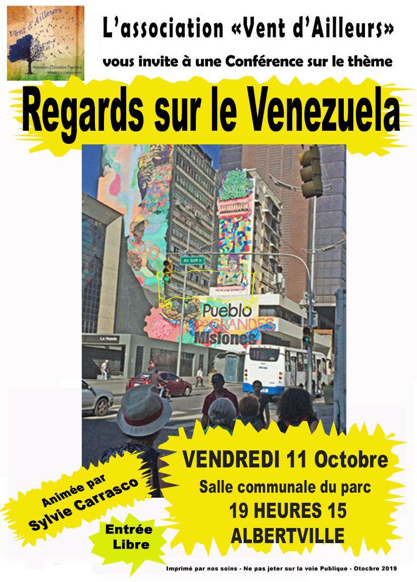Vendredi 11 Octobre Conférence sur le Venezuela animée par Syvie Carrasco