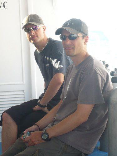 Jean-Pol François et moi pendant mon cours instructeur AIDA en septembre 2009 (Dahab, Egypte).