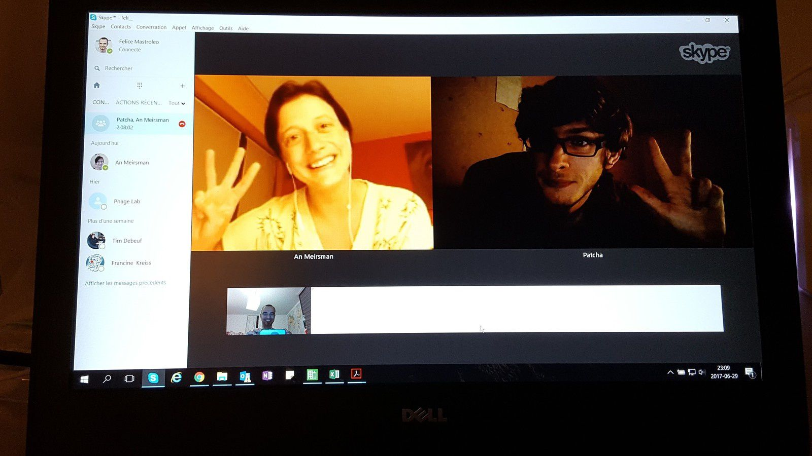 Successful Skype meeting yesterday :D