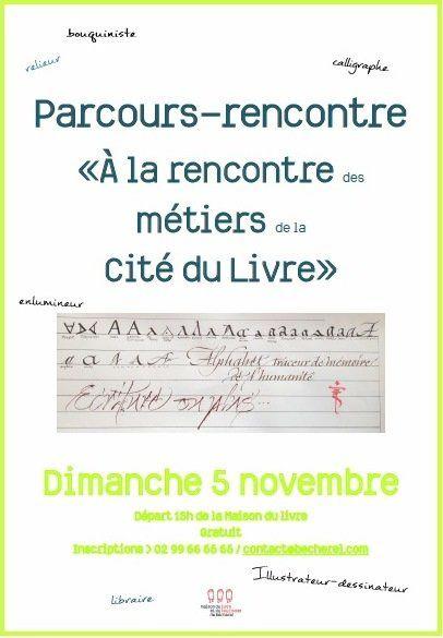 Dimanche 5 novembre 2017 : marché mensuel du livre, parcours-rencontre et signature...