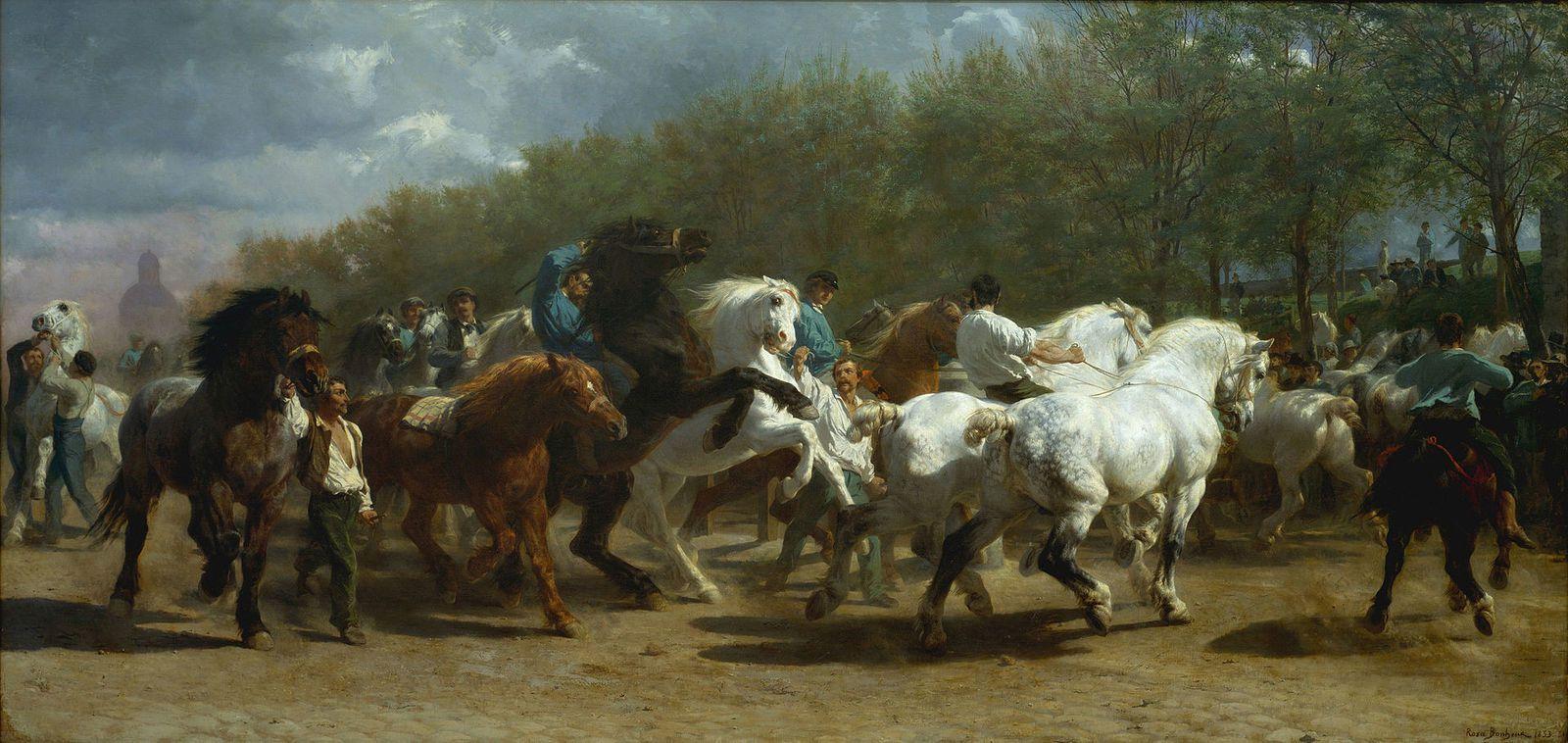 Le marché aux chevaux-1853