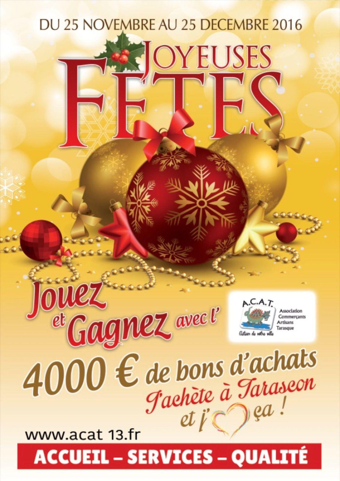 4 000€ de BONS d' ACHAT à GAGNER offert par vos commerçants & artisans ! J'achète à Tarascon et j'aime ça !