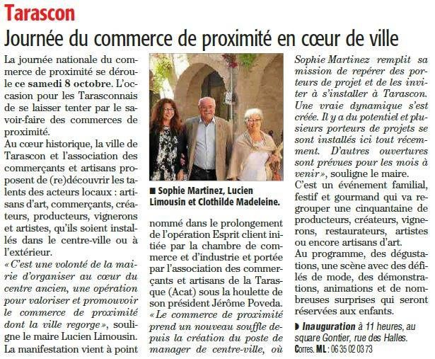 Journal Le Midi Libre octobre 2016 JNCP