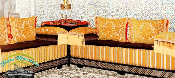 Menuisier salon marocain traditionnel complet - Salon ...