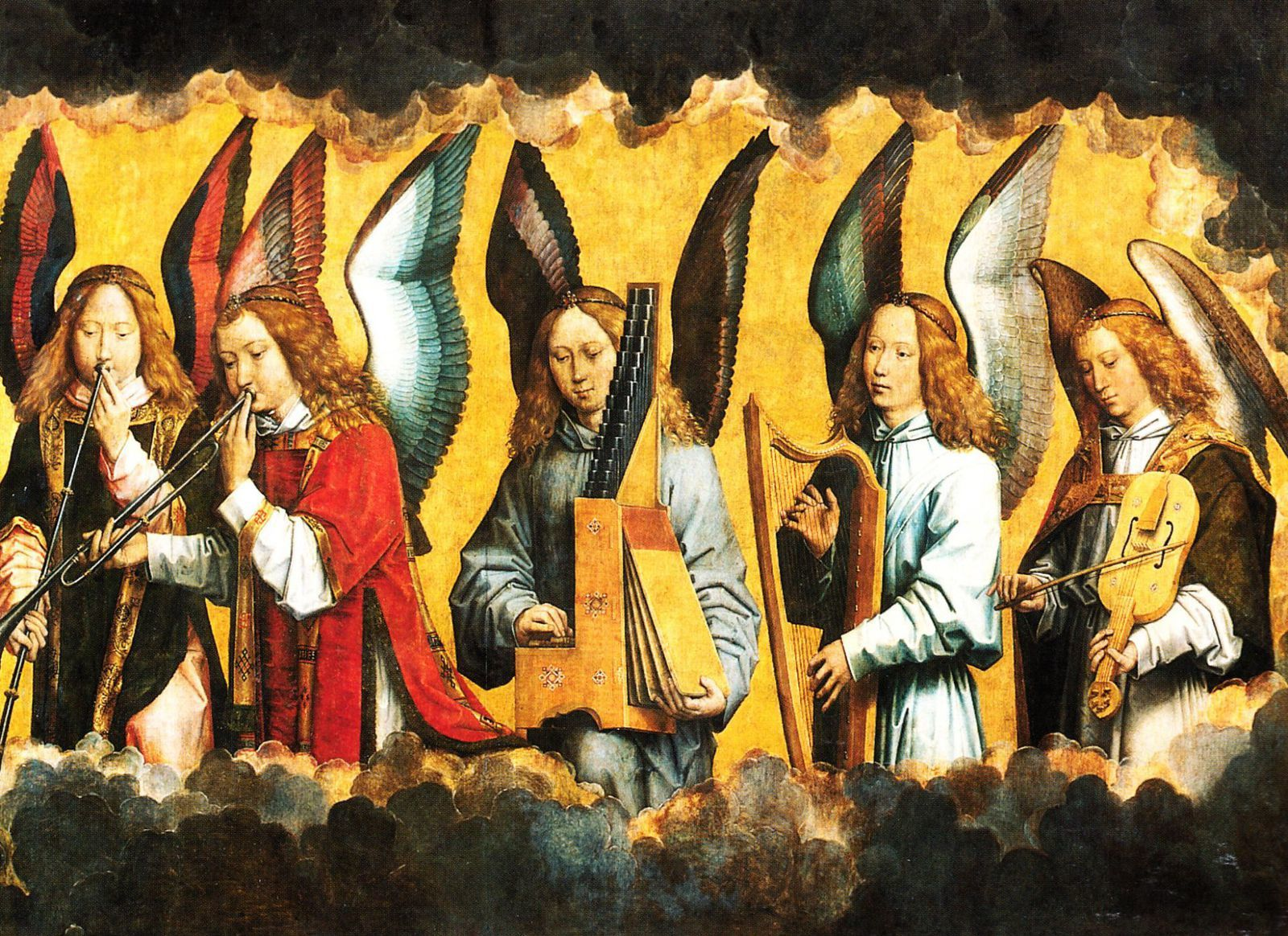 Les anges musiciens, Hans Memling, 1435/1484