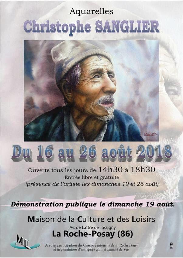 16 au 26 AOUT 2018 : AQUARELLES DE CHRISTOPHE SANGLIER à LA ROCHE-POSAY