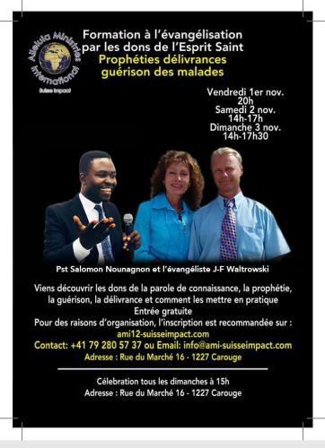 Le couple Evangélistes Joséphine et Jean François WALTROWSKI seront en SUISSE à GENEVE