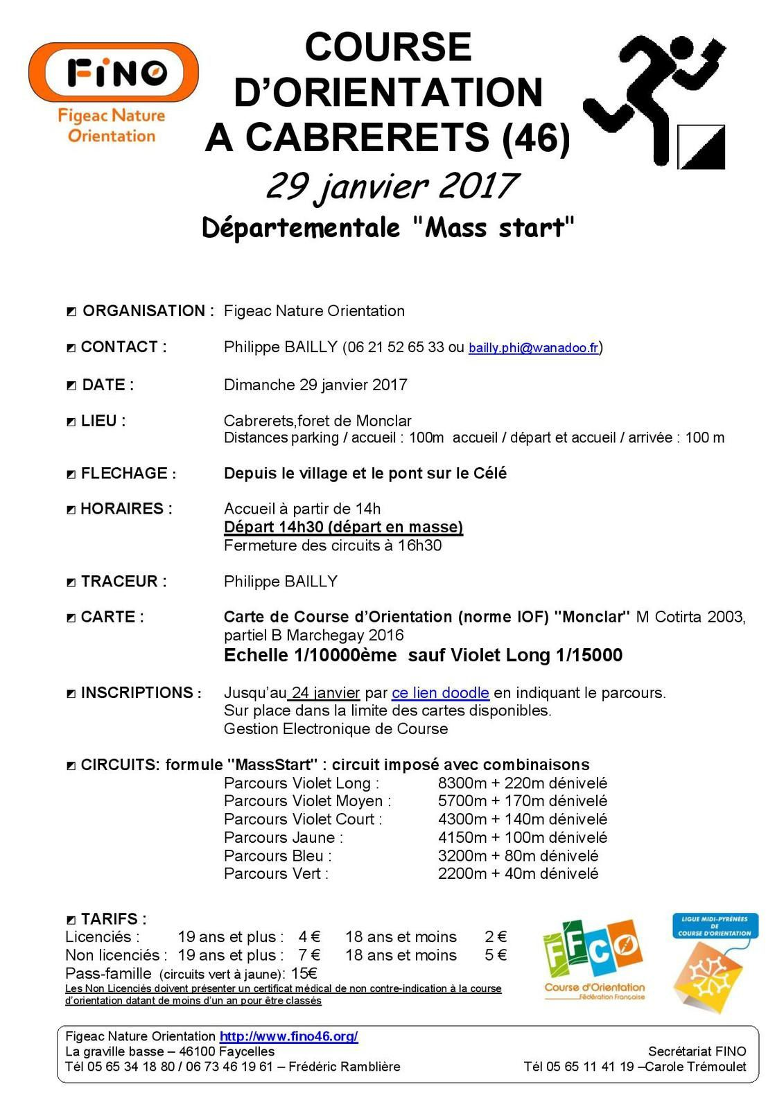 Mass Start - Cabrerets - 29 janvier 2017