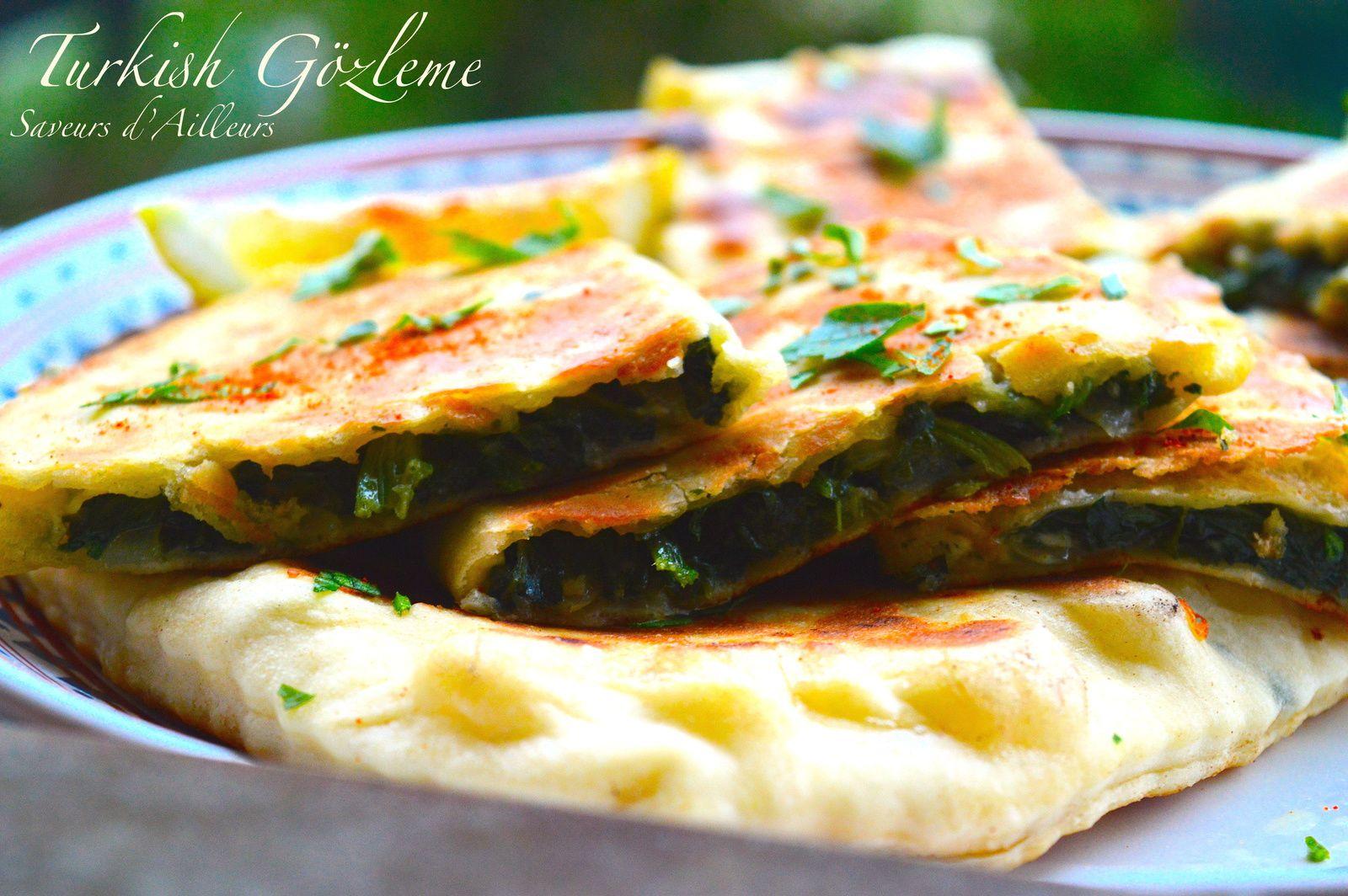 Gözleme : galettes turques aux épinards et au fromage