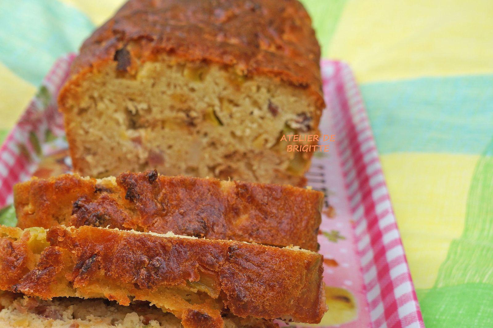 Cake - Courgettes - Lardons
