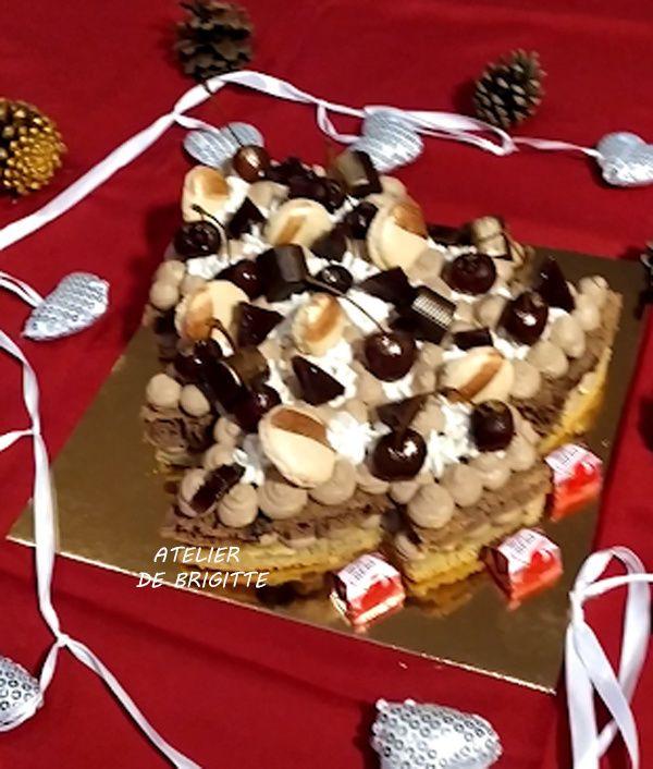 numbercake, symbolecake, forêt noire, chocolat, cerise, fêtes de fin d'années, dessert, pâtisserie, Noël