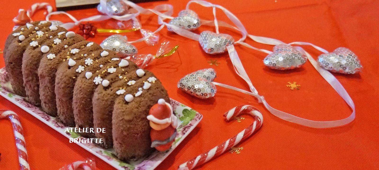 Bûche, Noêl, chocolat, crème brûlée, dessert, pâtisserie, insert crème brûlée, fondant chocolat, dacquoise, mousse chocolat, floquage,