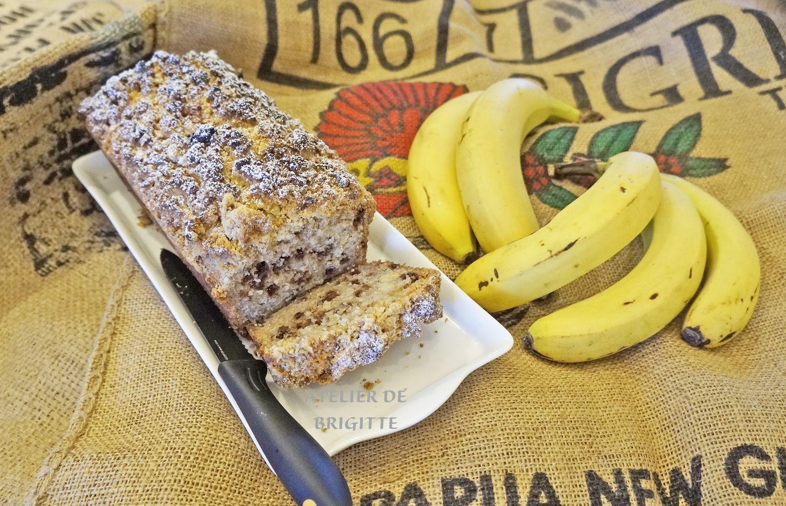 recette de chef, dessert, cake, bananes, chocolat, confinement, restezàlamaison, recette facile, goûter