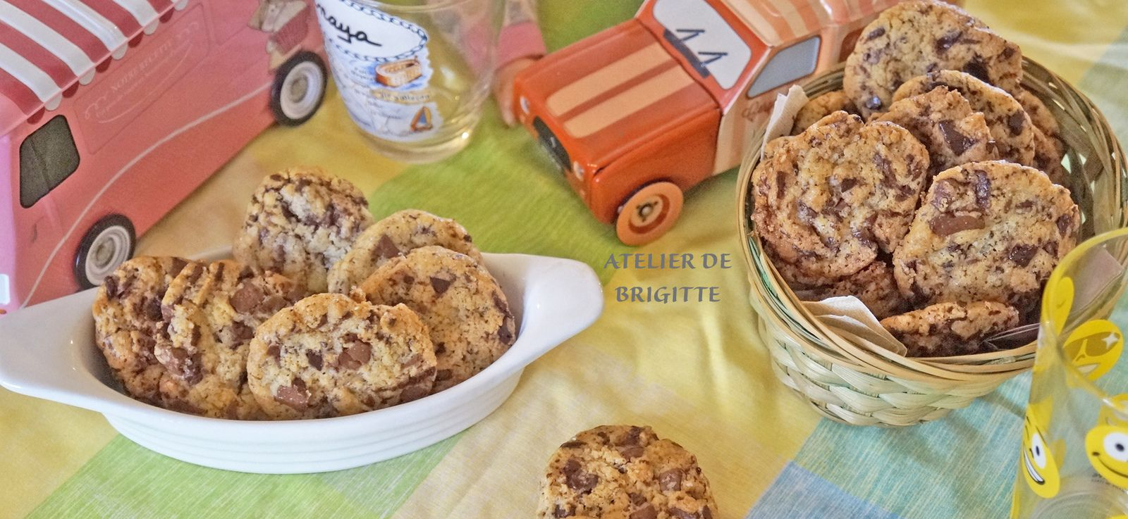 Cookies aux 2 chocolats, recette de Cyril Lignac -ATELIER DE BRIGITTE-