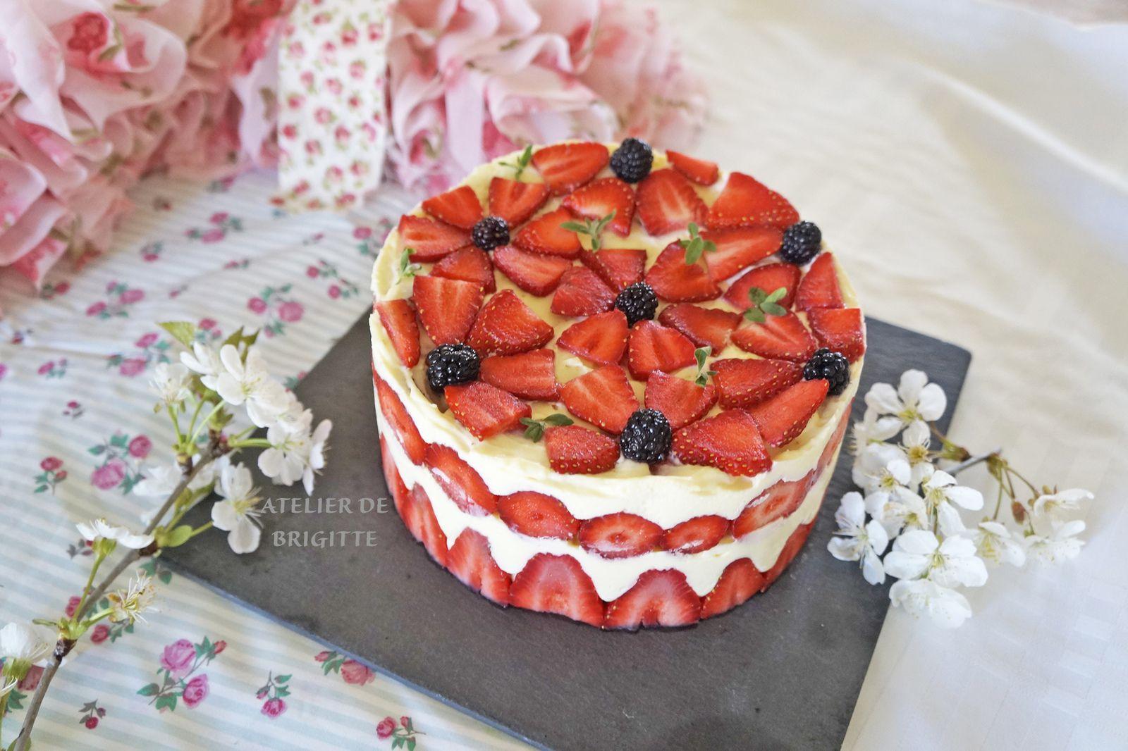 fraises, fraisier, dessert, recette, fruits, confinement, recette du confinement, entremet, crème diplomate