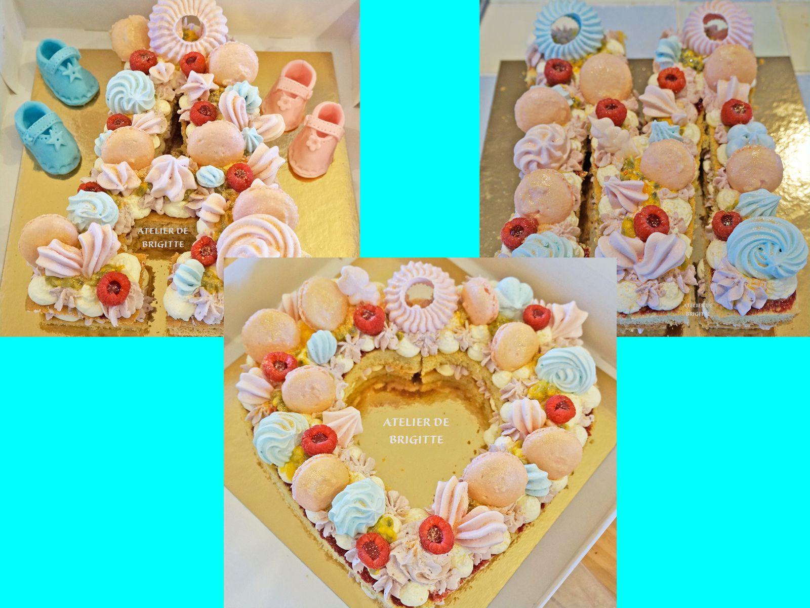 Number cake Framboises et Fruits de la Passion -ATELIER DE BRIGITTE-