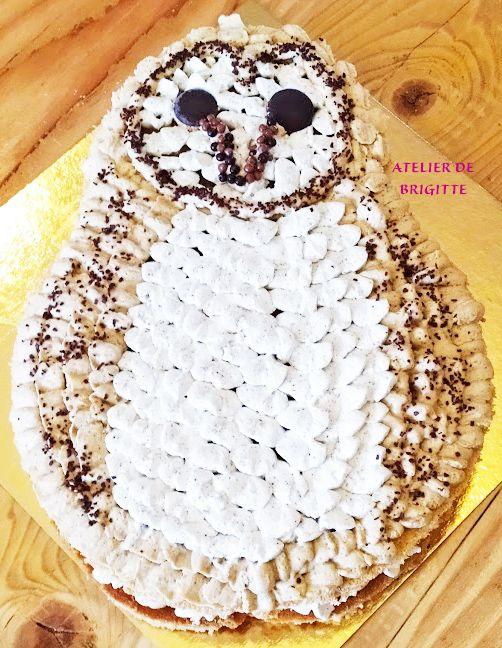 Number cake Café et Vanille, c'est Chouette,🦉 Edwige s'invite au dessert.... -ATELIER DE BRIGITTE-