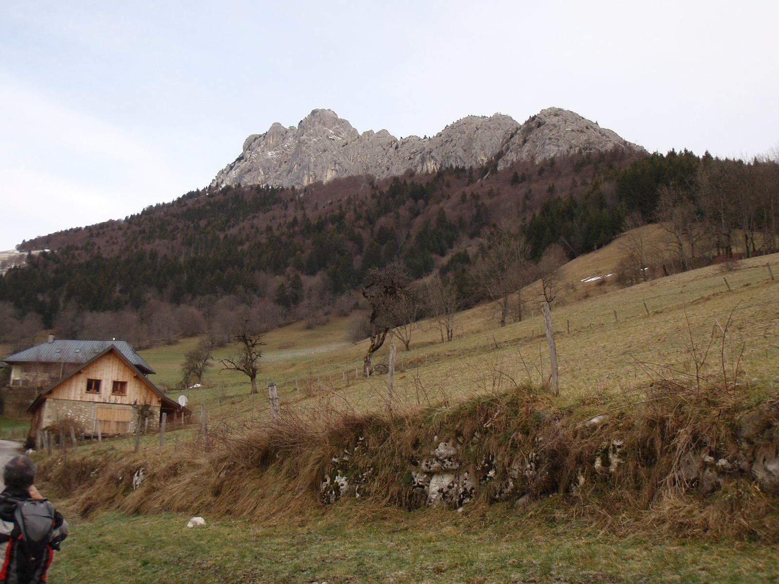 Roc des Boeufs (depuis Bellecombe en Bauges)
