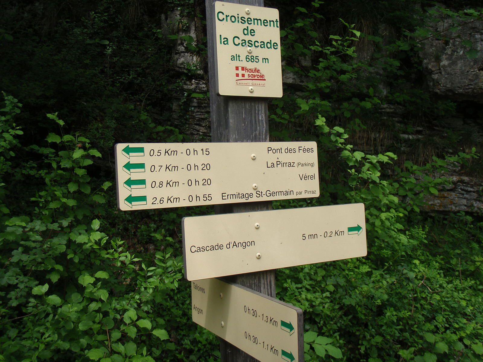 Cascade d'Angon: Boucle Verel>>>Rovagny