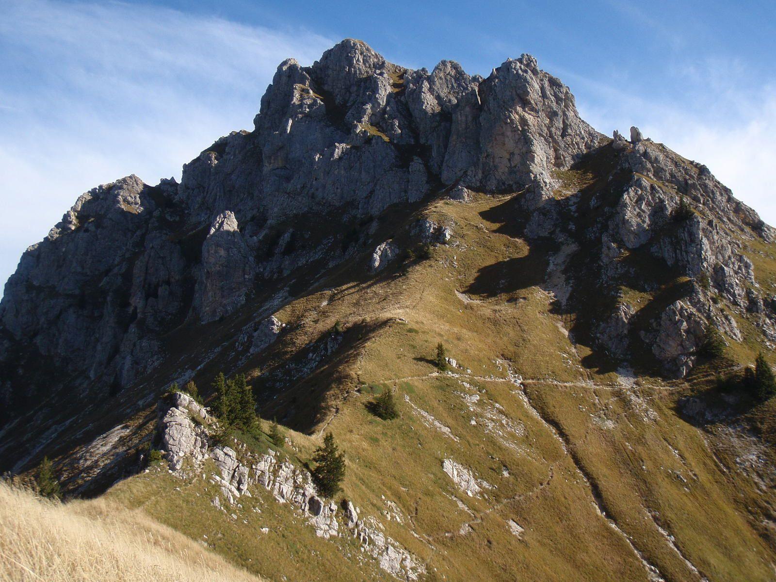 Roc d'Enfer: Enchaînement des 4 sommets par les arêtes (1/2)