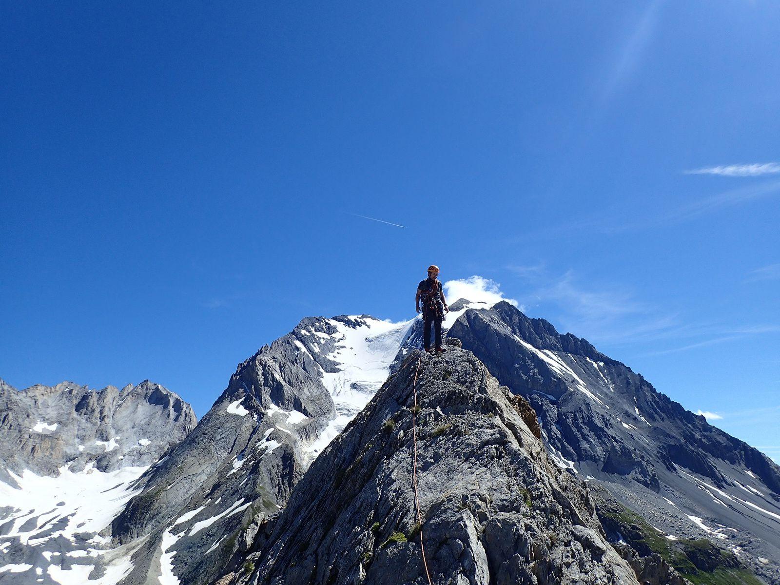 Aiguille de la Vanoise: Traversée des arêtes E>>>W 2/2