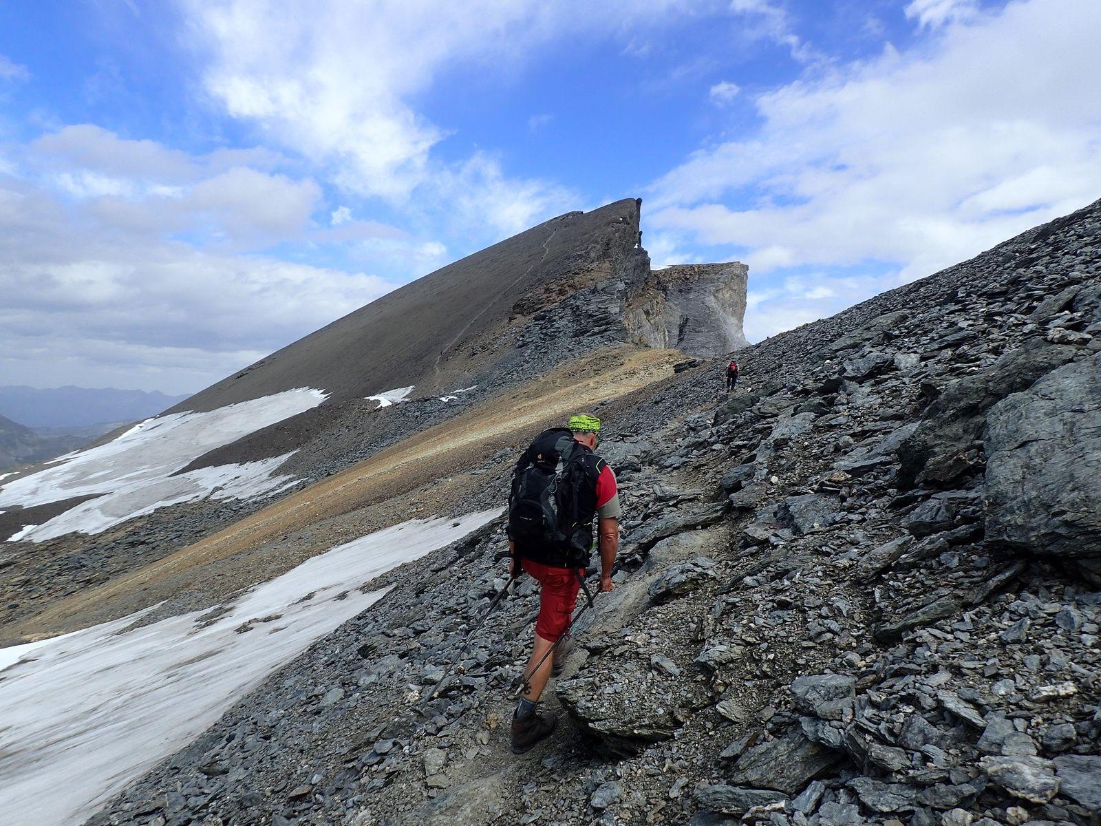 Ussers Barrhorn: Voie normale; versant Ouest et Arête Sud 2/2