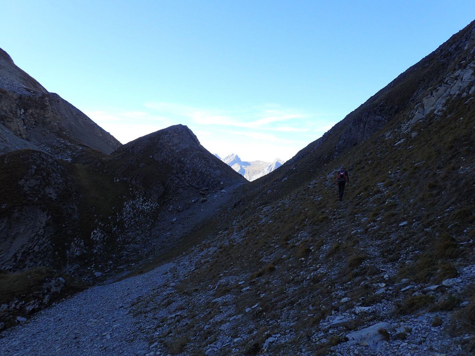 Pointes Longues - Sommet Nord: Arête nord-ouest > Couloir sud-est 2/2