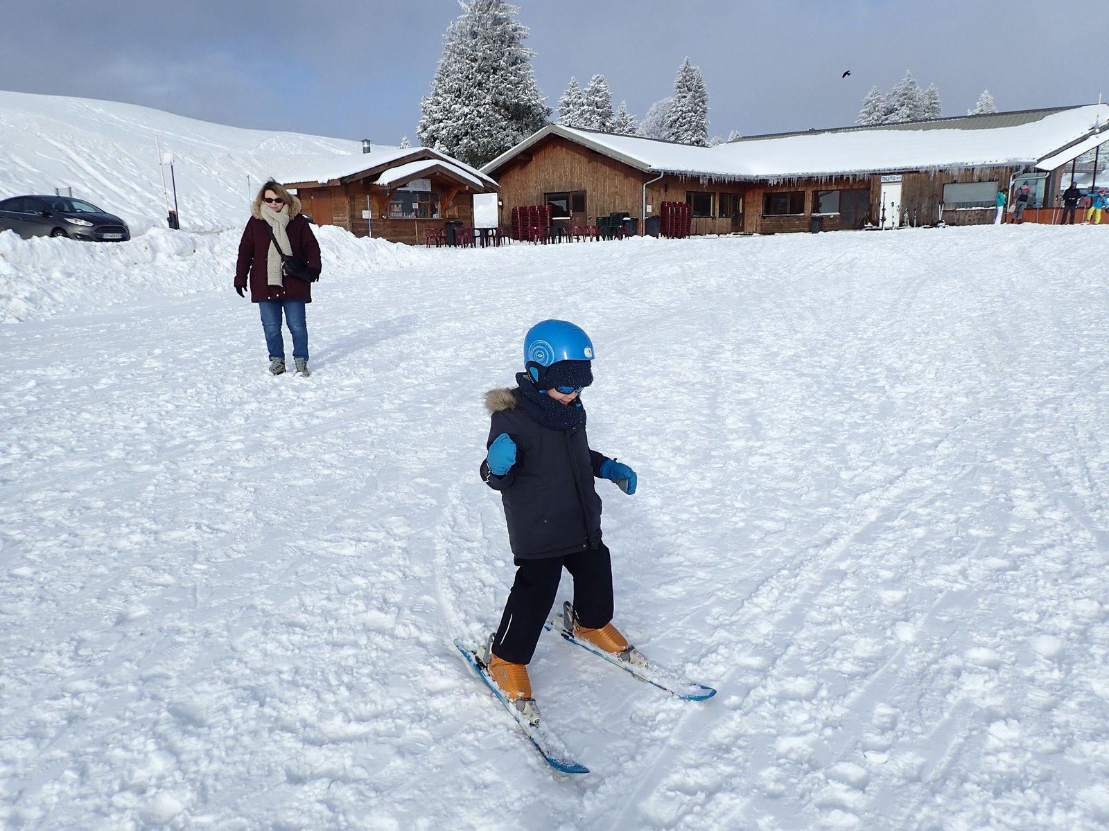 Semnoz: Première sortie ski Allan