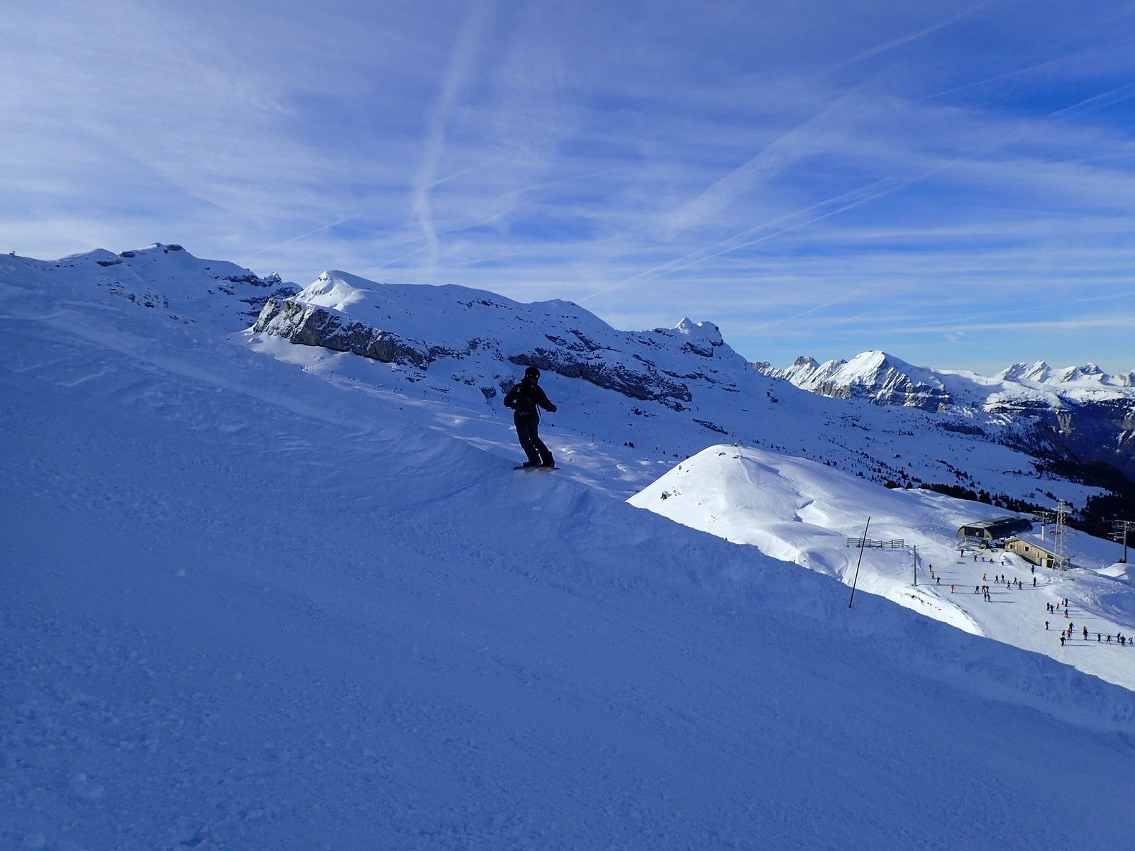 Snowboard et ski à Flaine