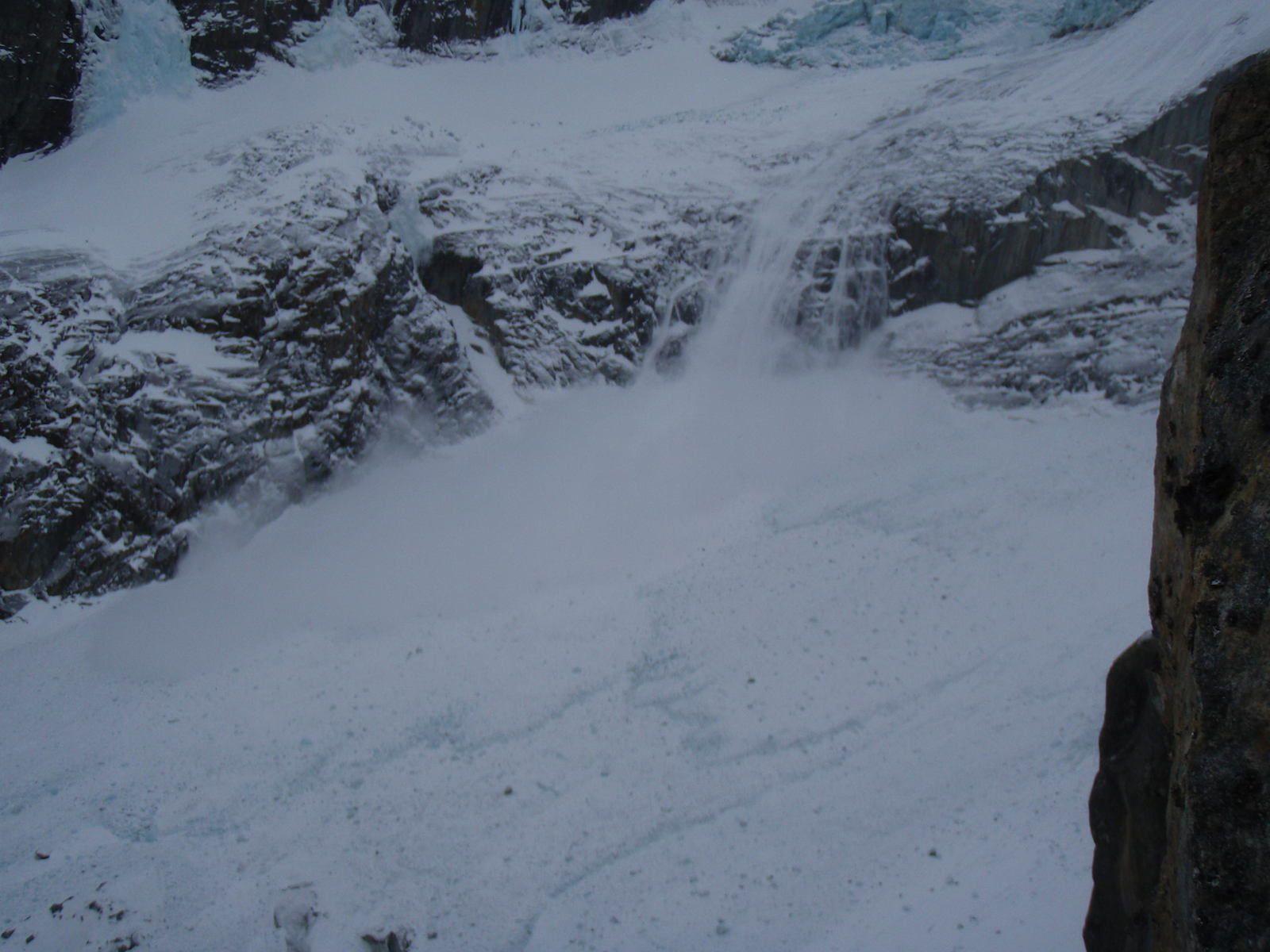 Cascade de glace d'Argentière: Mur Dent de la Mer; Déferlante